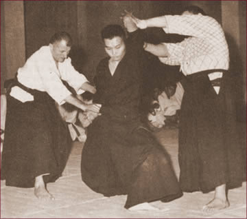 Tadashi Abe in allenamento